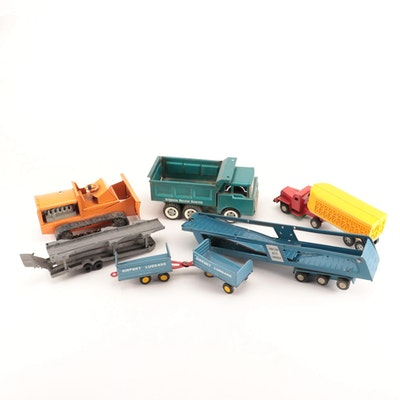 Structo Pressed Steel Construction Trucks and More, Mid-Century