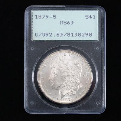 PCGS Graded MS63 1879-S Silver Morgan Dollar