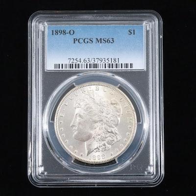 PCGS Graded MS63 1898-O Silver Morgan Dollar