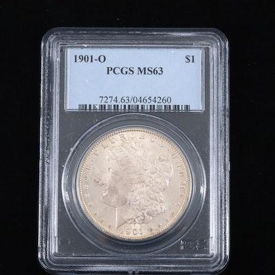PCGS Graded MS63 1901-O Silver Morgan Dollar.