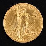 1914 Saint Gaudens Twenty Dollar Gold Coin