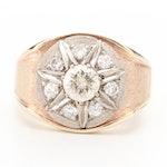 10K Yellow Gold 1.38 CTW Diamond Ring