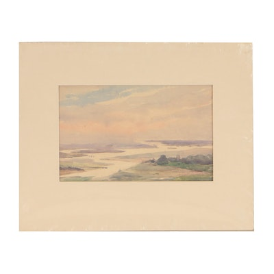Watercolor Landscape Painting, Turn-of-the-Century