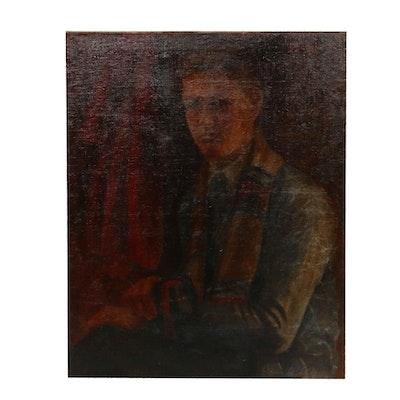 Schoolboy Portrait Oil Painting