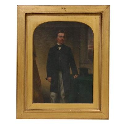 1868 Portrait of Thomas Hughes Oil Painting