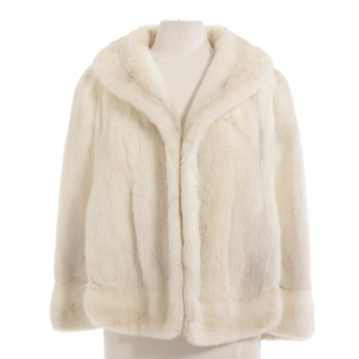 Tourmaline Mink and Fox Fur Wedding Capelet by Marché from Cikra of Cleveland