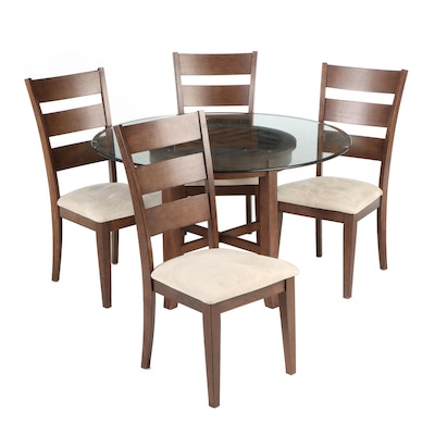 Asian Style Glass-Top Dining Set