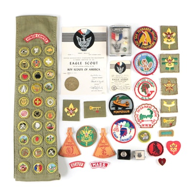 Boy Scout, Eagle Scout, and Selective Service Medals, Pins, Badges, and More