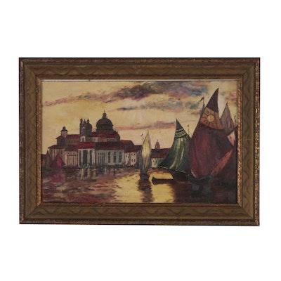 Xavier J. Barile Oil Painting of Venice