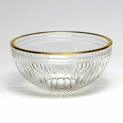 "Marquis by Waterford ""Hanover Gold"" Crystal Bowl"