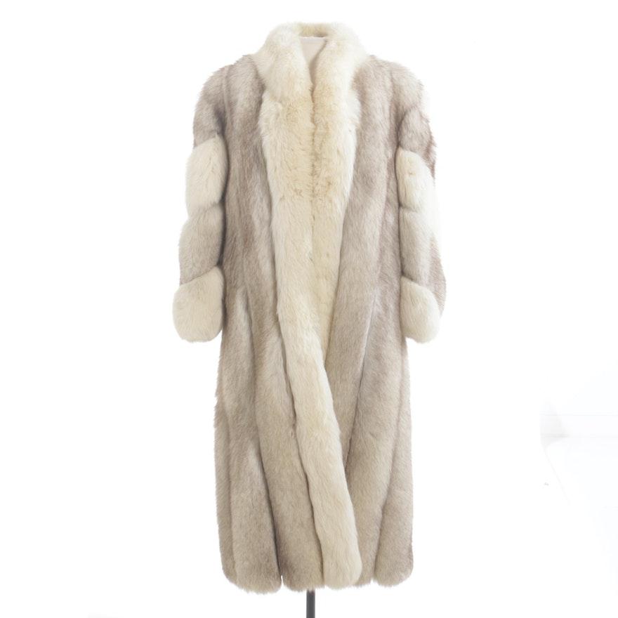 Saga Fox Full Skin Blue Fox Fur Coat