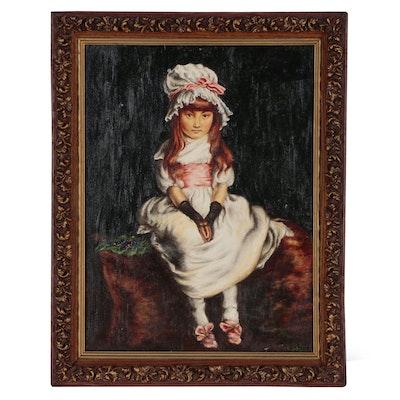 """Robert Curley Oil Painting after Sir John Everett Millais  """"Cherry Ripe"""", 2006"""