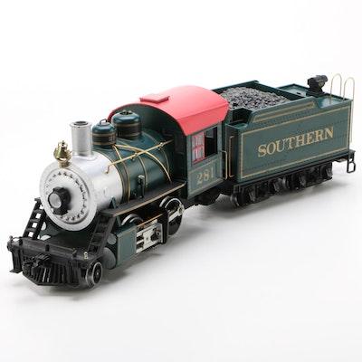 LGB G Scale Southern Railways 2-4-0 Steam Locomotive and Tender Car