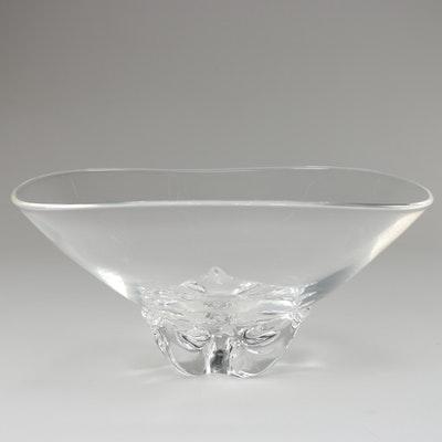 "Steuben Art Glass ""Trillium"" Bowl Designed by Donald Pollard, Mid-Century"