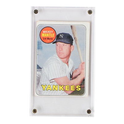 1969 Topps Mickey Mantle Card