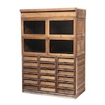 Birch Retail Display Cabinet, Early 20th Century