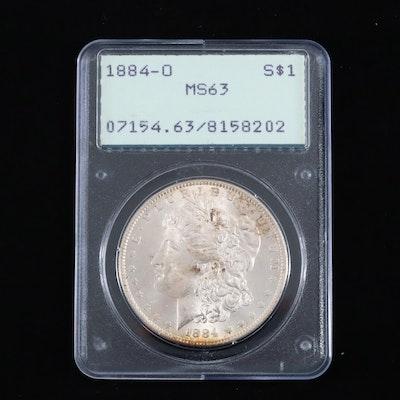 PCGS Graded 1884-O Silver Morgan Dollar