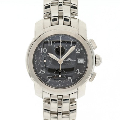 Baume & Mercier Stainless Steel Automatic Wristwatch With Date