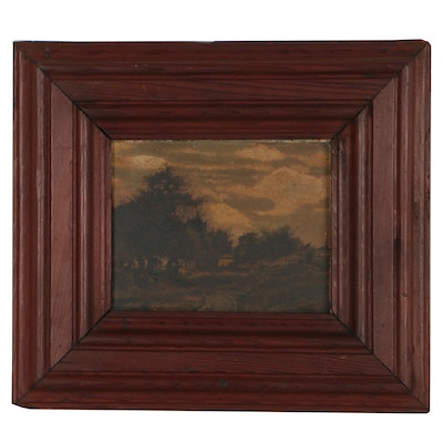 Continental Landscape Oil Painting, 19th Century