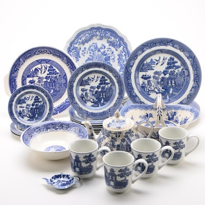 "Spode, Johnson Brothers, and Other ""Blue Willow"" Transferware Dinnerware"