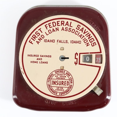 Vintage Advertising Promotional Mechanical Coin Bank