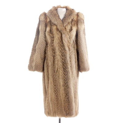 Tanuki Fur Full-Length Coat