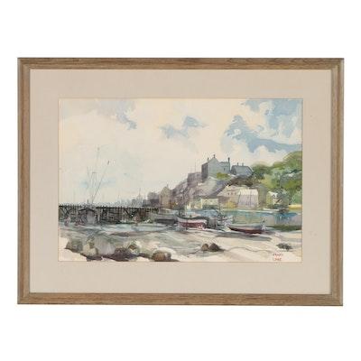 Frank Lowe Coastal Watercolor Painting