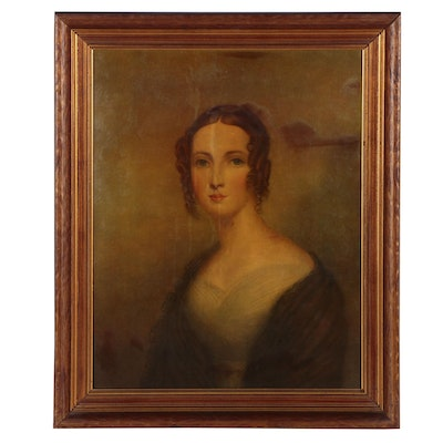 Collotype after Thomas Sully Portrait Painting