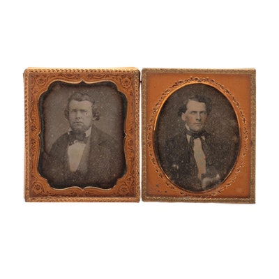 Male Portrait Daguerreotypes, Early to Mid 19th Century