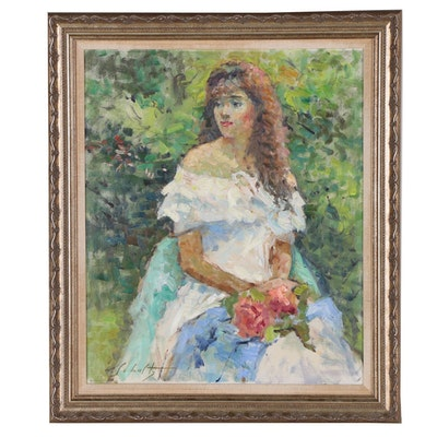 William Schultz Romantic Portrait Oil Painting