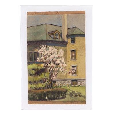 Dolores Lietze Architectural Watercolor Painting
