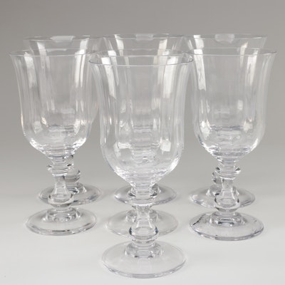 """Mikasa """"French Countryside"""" Crystal Water Goblets"""