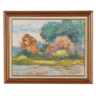 William Schultz Landscape Oil Painting