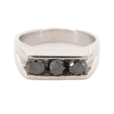 Sterling Silver 1.20 CTW Diamond Ring