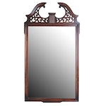 Federal Style Pierced Wooden Wall Mirror, Vintage