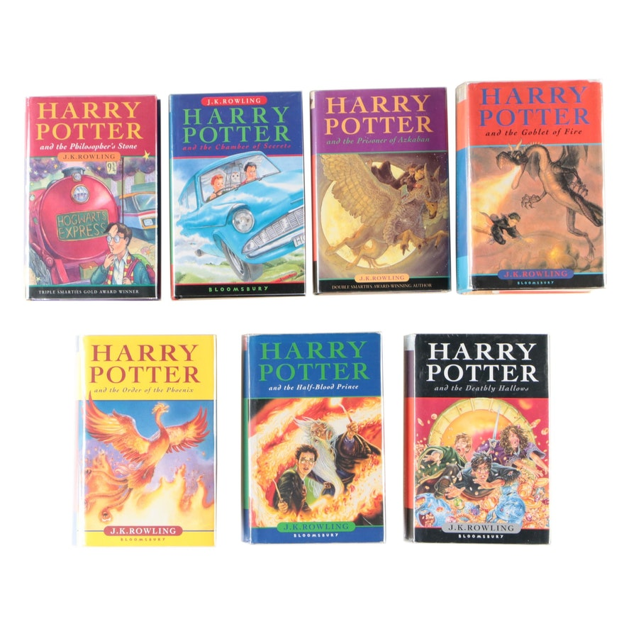 Complete Harry Potter Series Including Some First UK Editions