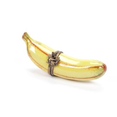 Limoges Hand-Painted Banana Trinket Box