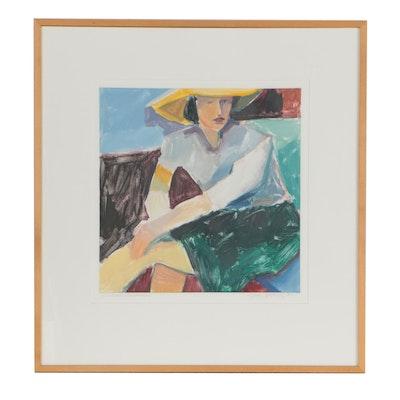 "Joyce Stolaroff Monoprint ""Diebekorn's Woman"", 1989"
