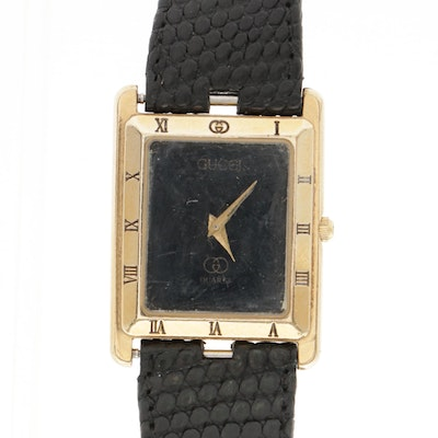 Gucci Gold Plated Wristwatch, 1980s