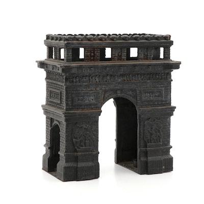 Cast Iron Arc de Triomphe Candle Holder