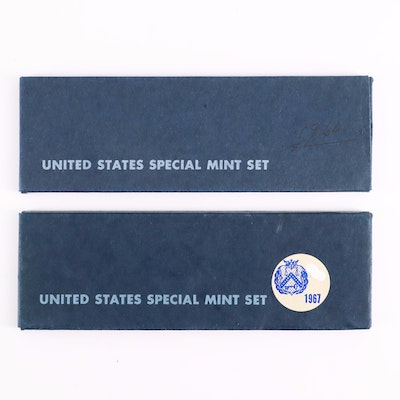 Two U.S. Special Mint Sets Including 1966 and 1967