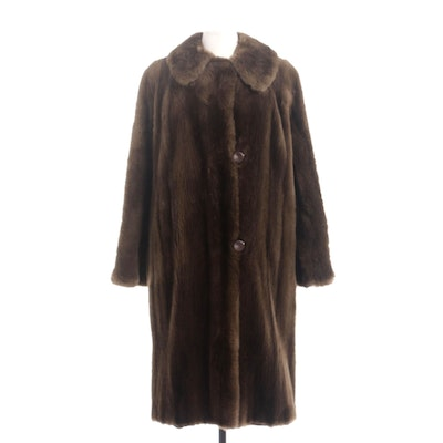 Sheared Beaver Fur Coat by Nigbor Furs, Vintage