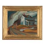 "Robert Barnum American Regionalist Style Oil Painting ""Heartland"""