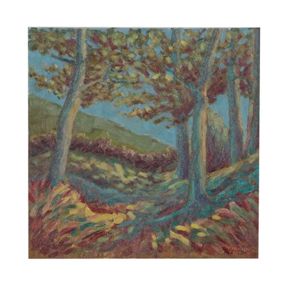 "Rebecca Manns Landscape Oil Painting ""Fallen Shadows"""