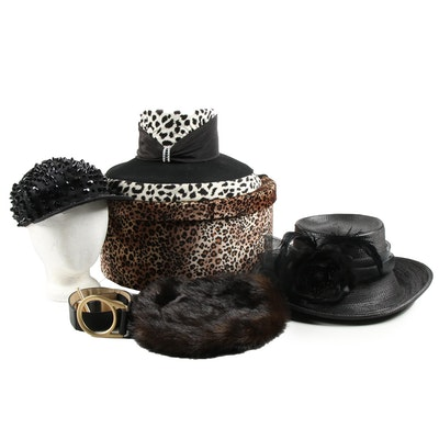Whittall & Shon Hat, Donna Salyers' Beret and More with Leopard Print Hatbox