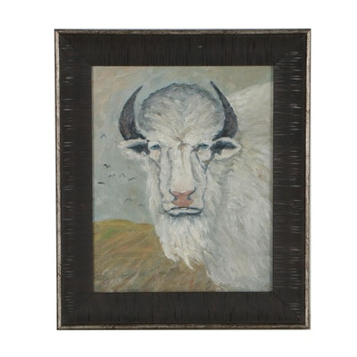 """Rebecca Manns Oil Painting """"Bison"""""""