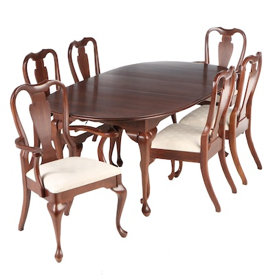 Crescent Manufacturing Queen Anne Style Cherry Dining Set