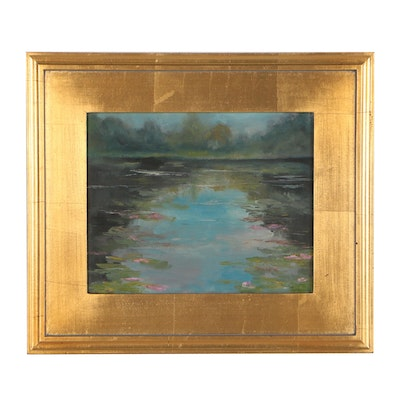 Impressionist Style Waterscape Oil Painting