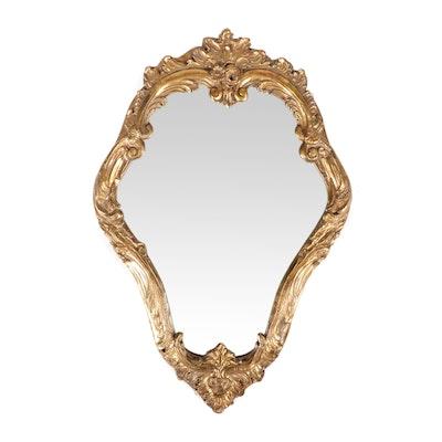 Rococo Style Gilt Gesso Wall Mirror