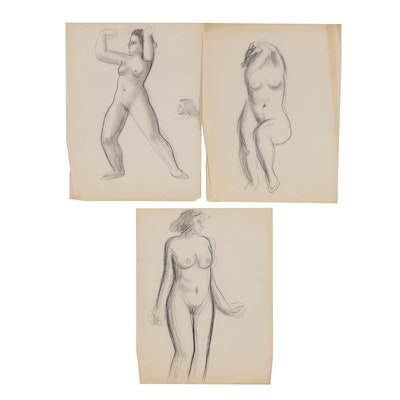 Thomas Eldred Charcoal Figure Drawings